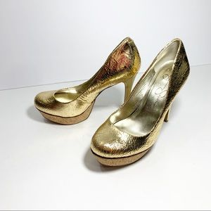 Jessica Simpson Gold Heels